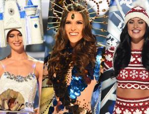 Miss Chile Catalina Cáceres ya desfiló con su traje típico
