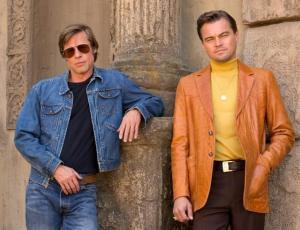 Dejan en evidencia Photoshop a Leo Di Caprio y Brad Pitt en foto de su nueva película