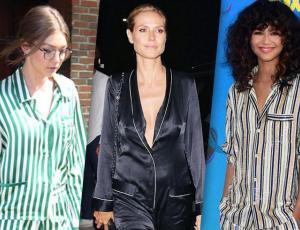 """7 famosas que se atrevieron con el look """"pijama chic"""""""