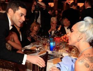 La tierna forma en la que Rami Malek se presentó a Lady Gaga