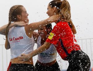 Kika Silva, Gala Caldirola y el lado sexy del partido de fútbol agua