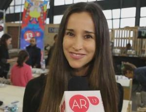 Titi Aguayo realizó talleres de manualidades en Masdeco Market