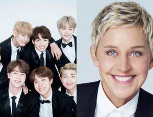 BTS fue invitado al programa de Ellen Degeneres y esto fue lo que pasó