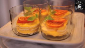 Postre cuchareado de mandarinas