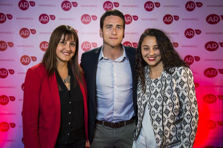 Daniela Medina, Camilo Ramírez y Linda Cisternas