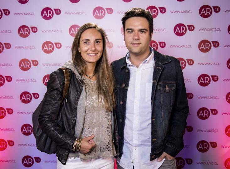 Myra Garnham y Sebastián Aguirre