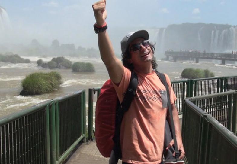 El increíble momento de Claudio en Iguazú